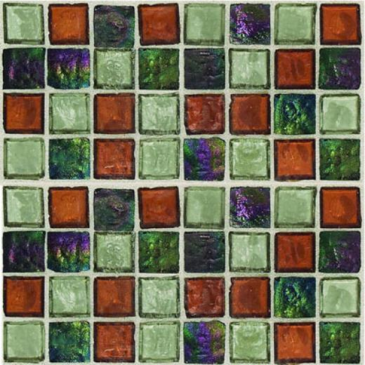 Daltile Egyptian Glass Mosaics Blends Amber Medley Tile & Stone