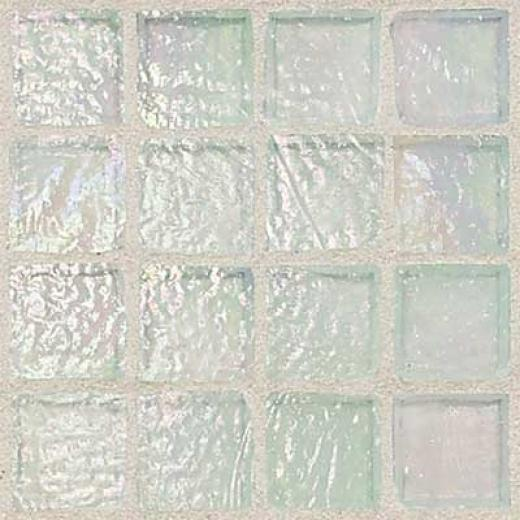 Daltile Egyptian Glass Mosaics 1 X 1 Iridescent Opal Tile & Stone