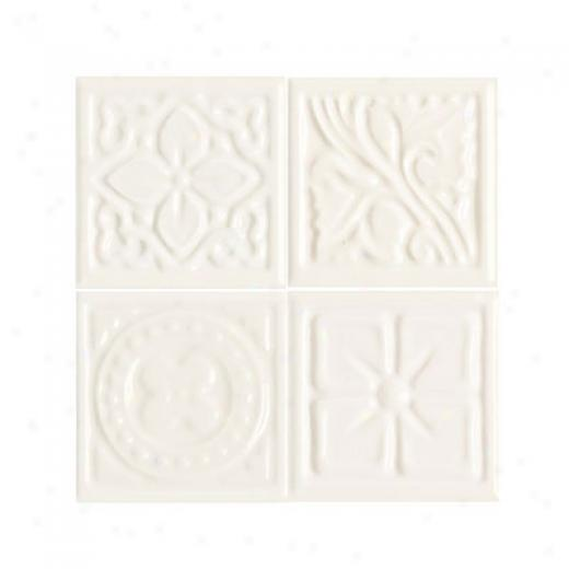 Daltile Fashion Accents Dots Floret Arctic White Dot Tile & Stone