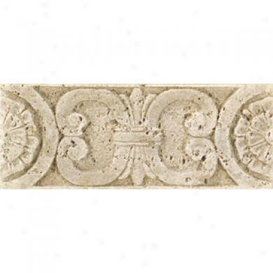 Daltile Fashion Accents Romanesque Fa92 Medallion Travertine Tule & Stone