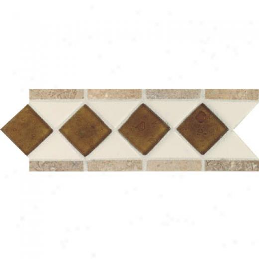 Daltile Fashion Language Semi-gloss With Oceann Glass And Tumbled Stone Almond Reef Noce Tile & Rock