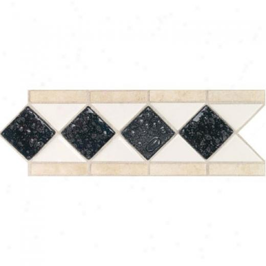 Daltile Form Accents Semi-gloss With Oceah Glass And Tumbled Stone Arctic White Abysss Tule & Stone