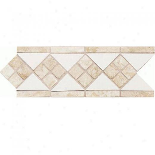 Daltile Fashion Accents Semi-gloss With Ocean Glass And Tumbled Adamant White Travertine Tile & Stone