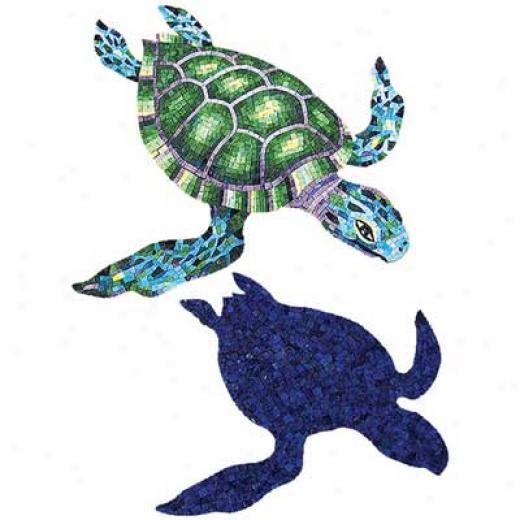 Daltile Glass Mosaic Muarlq Marine Turtle 48 X 62 Tile & Stone