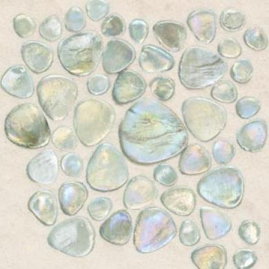 Daltile Glass Pebbles Mosaic Petra Rainbow-like Tile & Stone