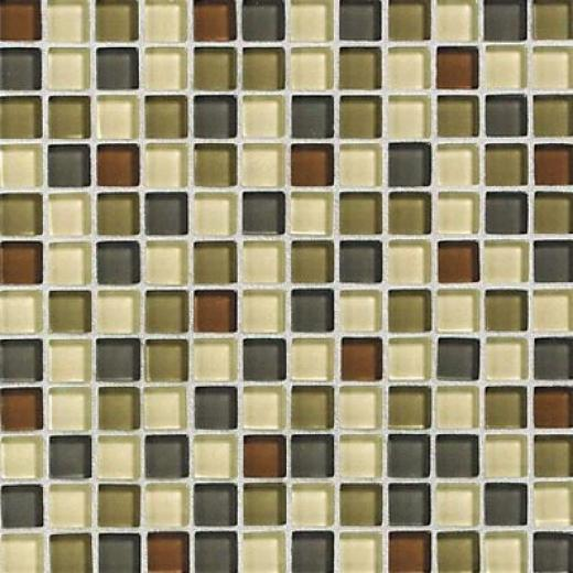 Daltile Glass Reflections Blend sMosaic 1 X 1 Urban Camouflage Tile & Stone