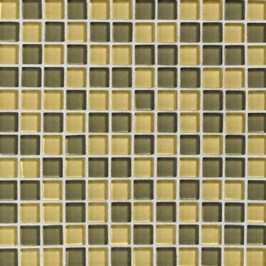 Daltile Glass Reflections Blends Mosaic 1 X 1 Wheat Field Tile & Stone