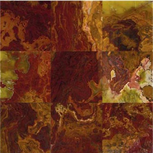 Daltile Marble Polished 12 X 12 Multi Red Onyx Tile & Stone