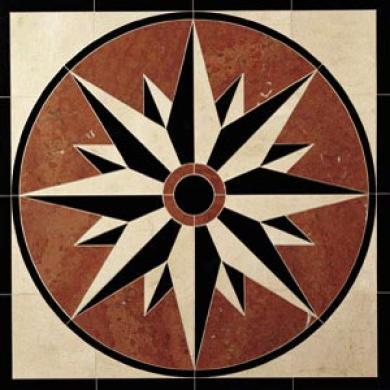 Daltile Medallion 32 X 32 Compass 32 X 23 Tile & Stone