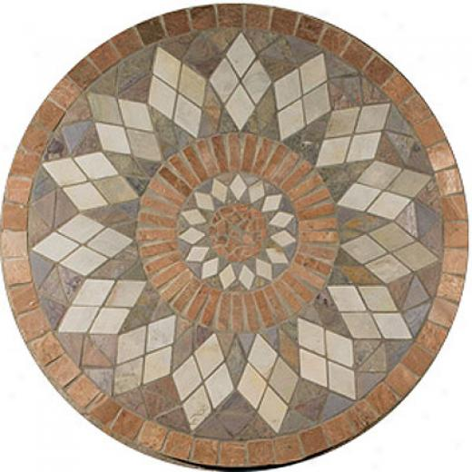 Daltile Medallions Tumbled Stone Zinnia Tile & Rock