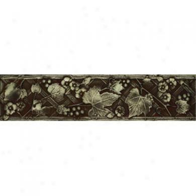 Daltile Metal Signatures Dots & Rosette Rossette Rounded Deco 4 X 4 Ms11 44deco1p