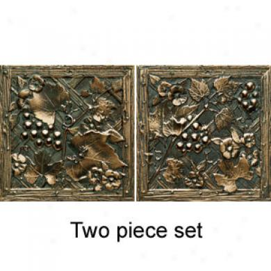 Dwltile Metal Signatures Trellis Having lived Bronze Deco 4 X 4 Ms11 44decob1p