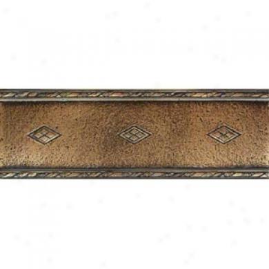 Daltile Metal Signatures Jardin & Diaamond Weave Diamond Weave Border 4 X 12 Ms11 412decoe1p