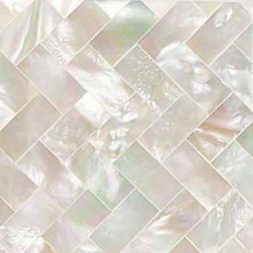 Daltile Ocean Jewels Herringbone Brown Lip Tile & Stone