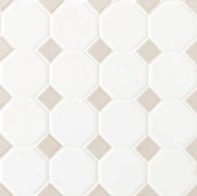 Daltile Octagon & Dot Matte White/gray Gloss Dot Tile & Stone
