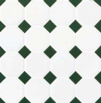 Daltile Octagon & Dot Matte White/green Gloss Dot Tile & Stone