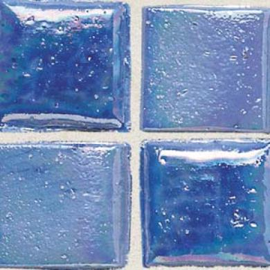 Daltile Sonterra Collection Mosaic Medium Blue Iridescent Til3 & Stone