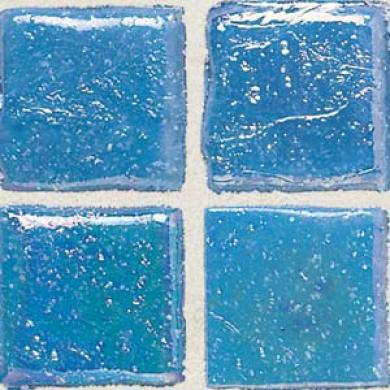 Daltipe Sonterra Collection Mosaic Cancun Blue Iridescent Tile & Stone