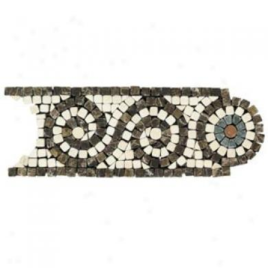 Daltile Tumlbed Natural Stone Inlaid Accents Marfil/emperador Scroll Tile & Stone