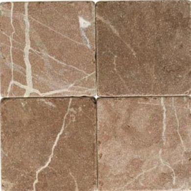 Daltile Tumbled Natural Stone 4 X 4 Rojo Alicante Tile & Stone