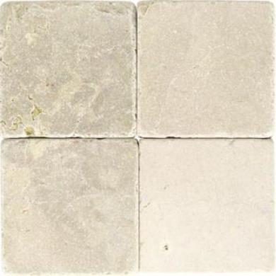 Daltile Tumbled Natural Stone 4 X 4 Crema Marfil Tile & Stone