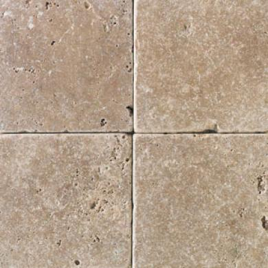 Daltile Tumbled Natural Stone 4 X 4 Antalya Dark Tile & Stone