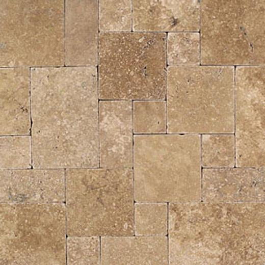 Daltile Tumbled Natural Stnoe Padedon Pattern Inca Brown Tile & Stone