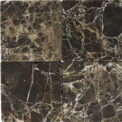 Daltile Tumbled Natural Stone 12 X 12 Emperador Dark Tile & Stone