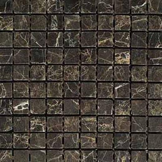Daltile Tumbled Natural Stone Mosaics 1 X 1 Emperador Dark Tile & Stone