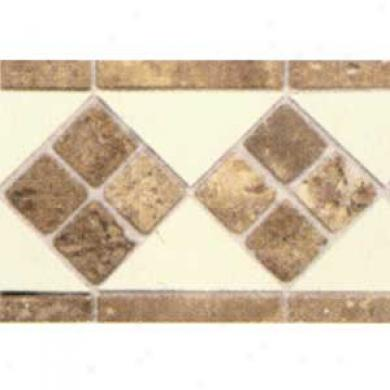 Daltile Tumbled Stone Combination Listello Almond/noce Stone 4 X 12 Tile & Stone