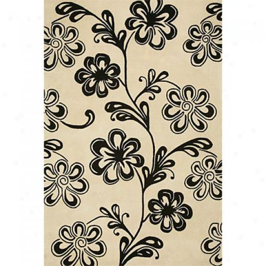 Delos, Inc. Bloom 8 X 11 Petal Cream Area Rugs