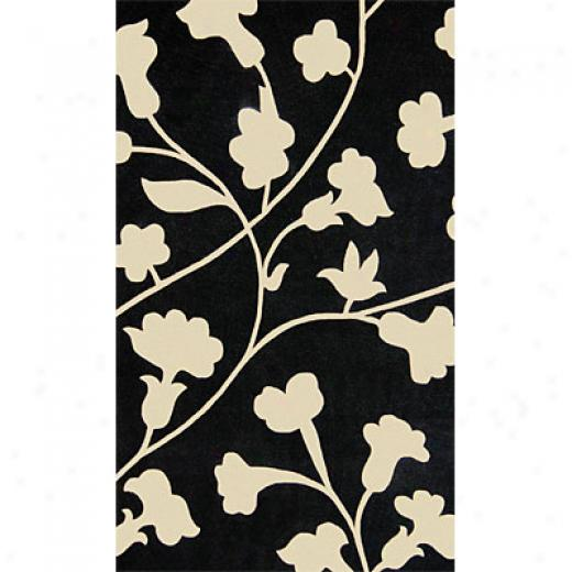 Delos, Inc. Bloom 8 X 11 Zest Black White Area Rugs
