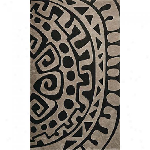 Delos, Inc. Delos Styles 3 X 5 Aztec Silver Area Rugs