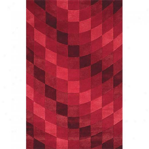 Delos, Inc. Dells Styles 3 X 5 Cubic Red Area Rugs