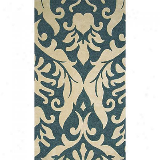 Delos, Inc. Delos Styles 5 X 8 Tapestry Cream Deep Blue Area Rugs
