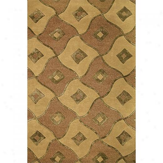 Delos, Inc . Delos Styles 5 X 8 Reflection Brass Area Rugs