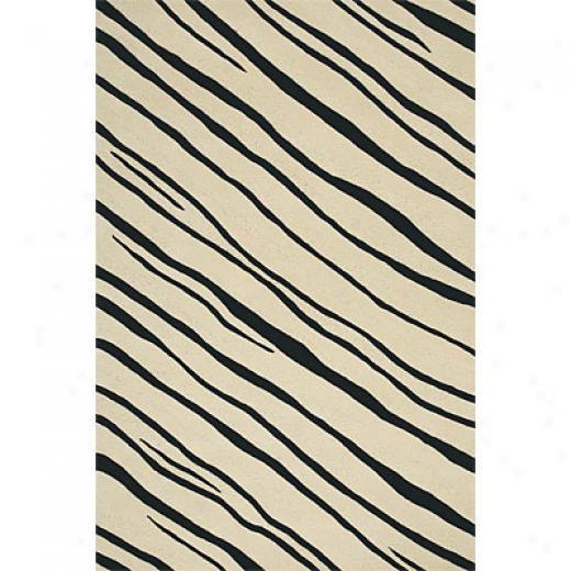 Delos, Inc. Delos Styles 8 X 11 Shimmer Black White Area Rugs