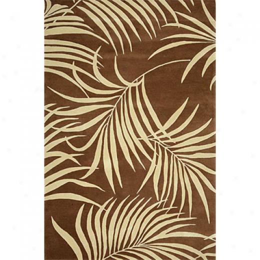 Delos, Inc. Footprints 3 X 5 Ocean Breeze Browb Area Rugs