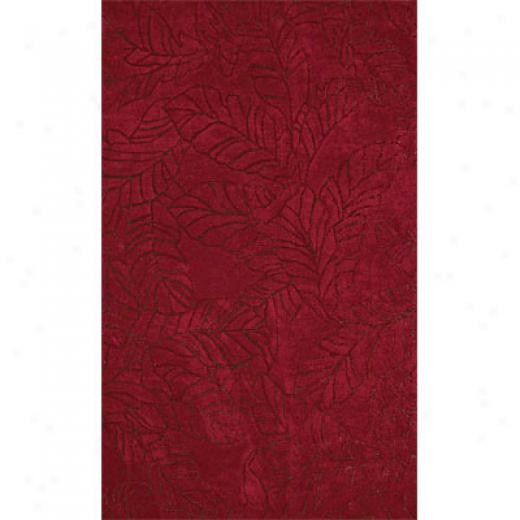 Delos, Inc. Fooptrints 5 X 8 Windswept Red Brown Area Rugs