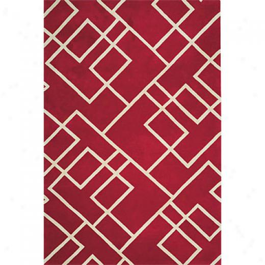 Delos Inc. Linx 8 X 11 Mixer Red Area Rugs
