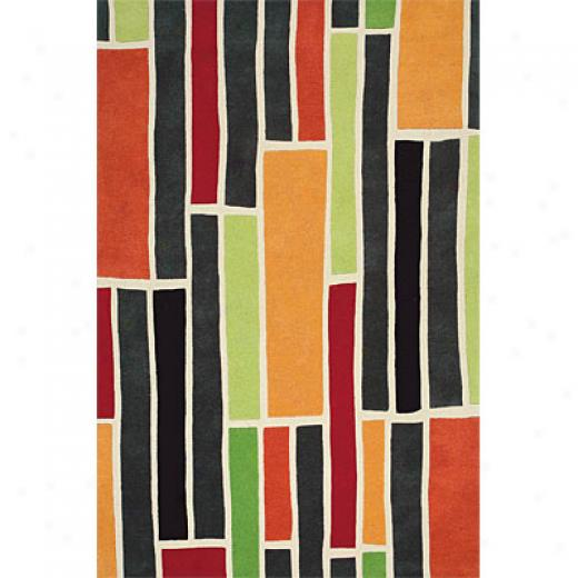 Delos, Inc. Swank 3 X 5 Blocks Bright Multi Area Rugs