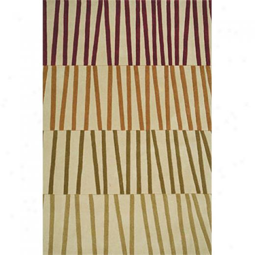 Delos, Inc. Swank 7 X 10 Sticks Beige Multi Area Rugs