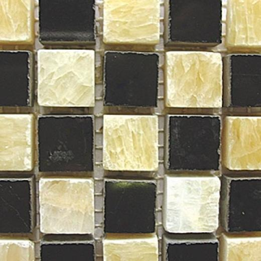 Diamond Tech Glass Marble Series Polished Mosaic Honey/black Tile & Stone