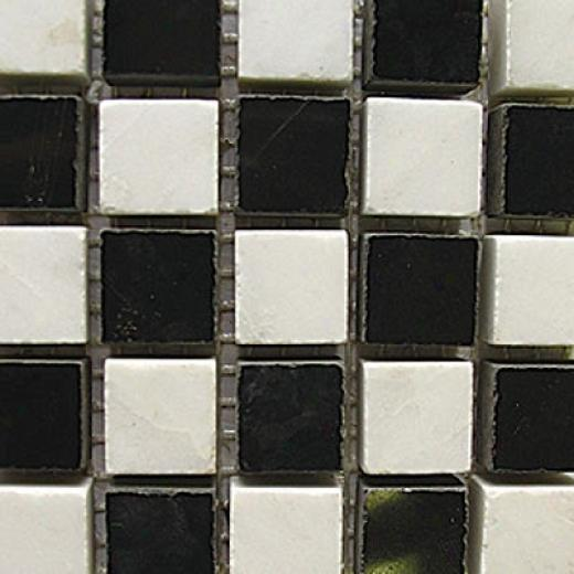 Diamond Tech Glass Marble Series Polished Mosaic Statuary/black Tile & Stond