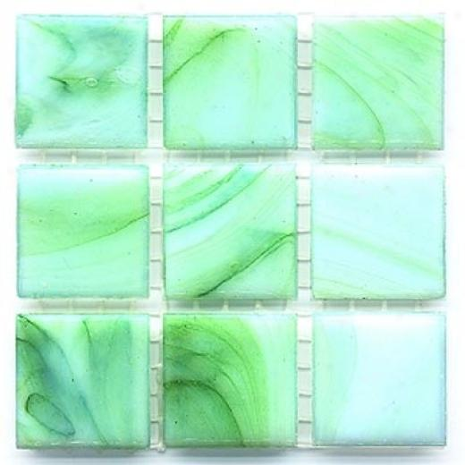 Diamond Tech Glass Mosaic Glass Series - Cloudy Green Tile & Stone