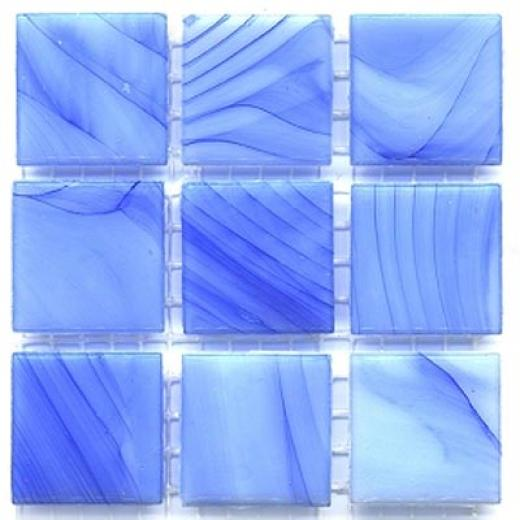 Diamond Tech Glass Mosaic Gpass Series-  Cloudy Blue Tile & Stone