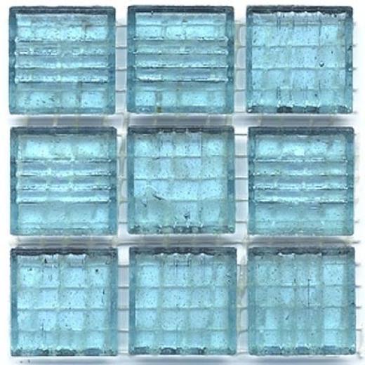 Diamond Tech Glass Mosaic Glass Series - Clear Bottle Blue Tile & Rock