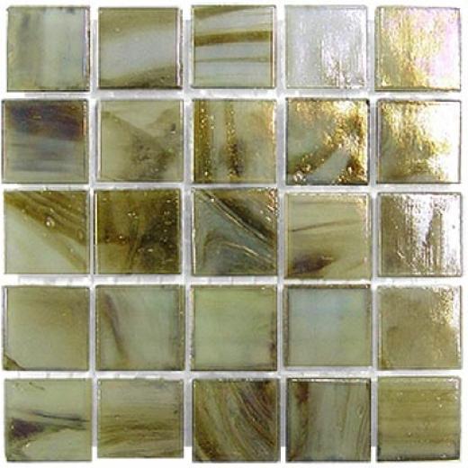 Diamond Tech Glass Platinum Mosaic Series Celadon Swirl Tile & Rock