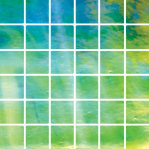 Diamond Tech Glass Stained Glass Mosaic Bright Green Luminous Tile & Stone