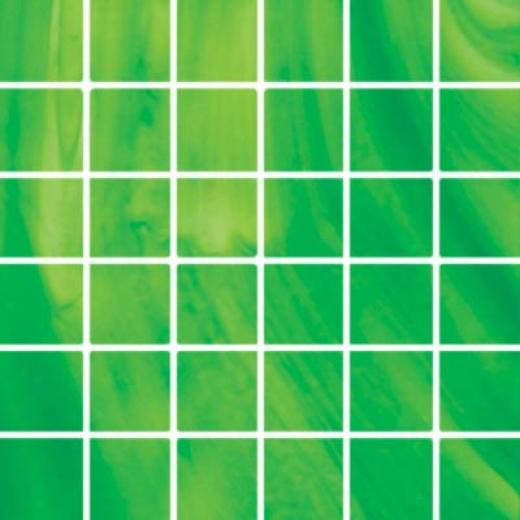 Diamond Tech Glass Stained Glass Moasic Bright Green Opalescent Tile & Stone
